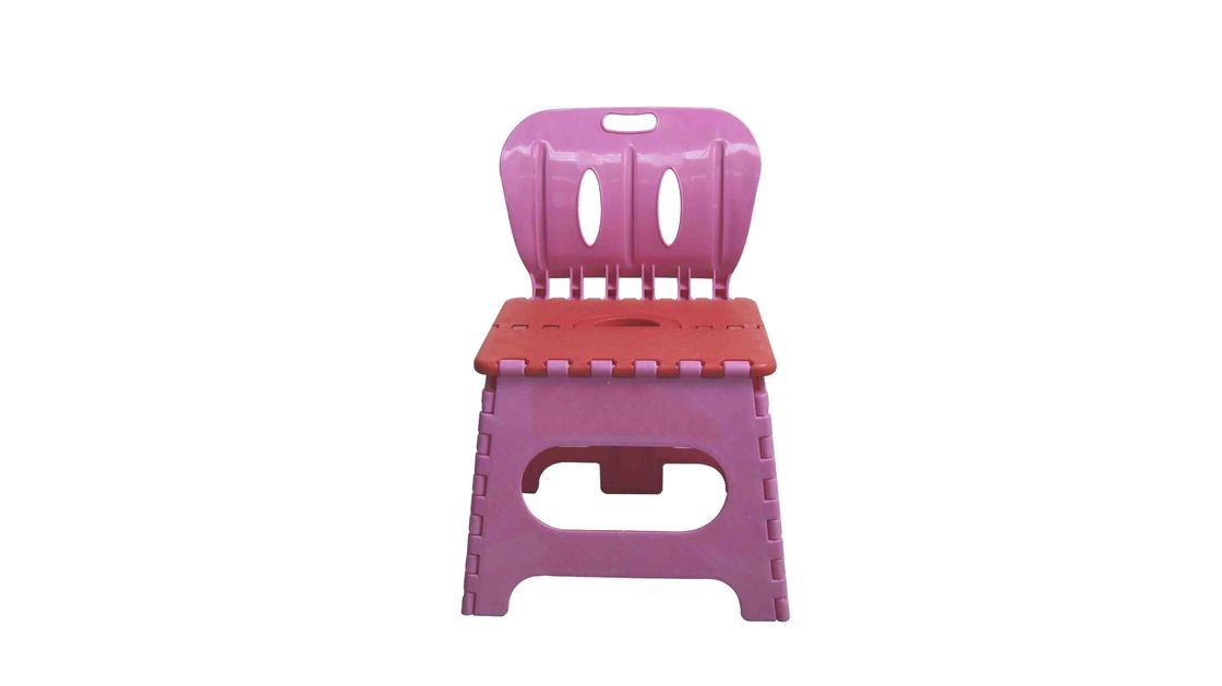 Durable Kids Playroom Furniture Plastic Folding Chairs Lightweight With Handle